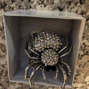 Jewelry - Rhinestone Spider Ring